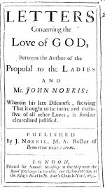 Letters Concerning the Love of God, 1695 London