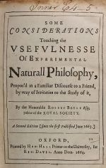 Usefulness of Experimental Natural Philosophy, 1664 Oxford