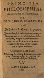 Conway's Principia Philosophiae, 1690 Amsterdam