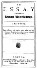 An Essay Concerning Human Understanding, 1690 London