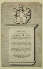 John Locke's grave plaque, High Laver, Essex, United Kingdom