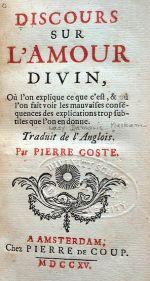 Discours sur l'Amour Divin, 1715 Amsterdam