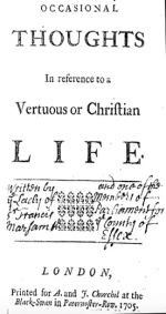 Occasional Thoughts, 1705 London