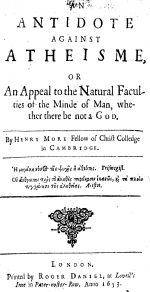 An Antidote Against Atheisme, 1653 London