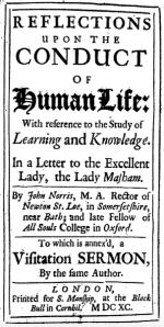 Reflections Upon the Conduct of Human Life, 1690 London